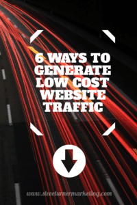 generate low cost website traffic