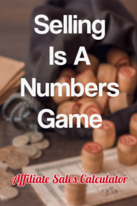 Sales Is A Numbers Game