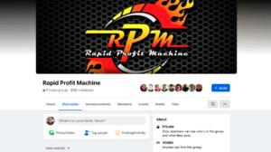 Rapid Profit Machine Facebook Group